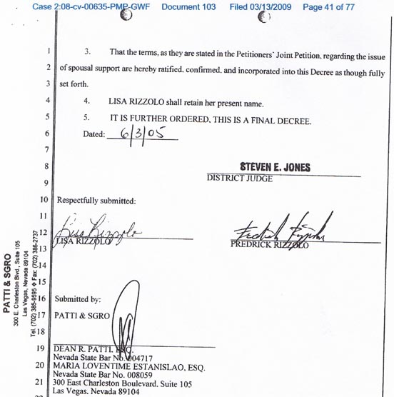 Rick Porrellou0027s   AmericanMafia.com   Steve Miller   Inside Vegas  Example Of Divorce Papers